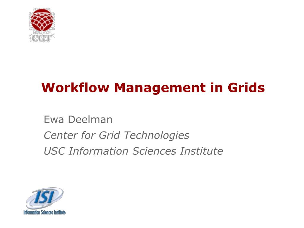 workflow management in grids l.