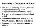 penalties corporate officers