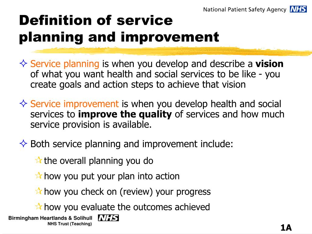 definition of service planning and improvement l.