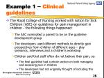 example 1 clinical guidelines