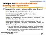example 3 service and workforce planning and improvement