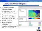 examples cyberintegrator