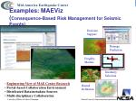 examples maeviz consequence based risk management for seismic events
