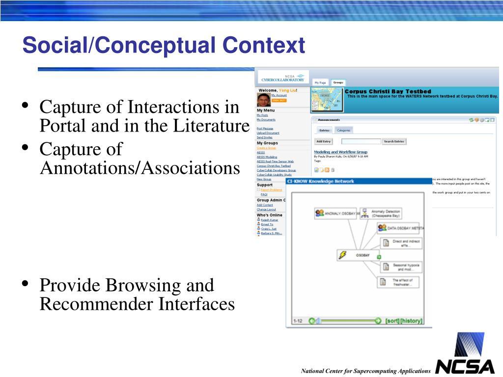 Social/Conceptual Context