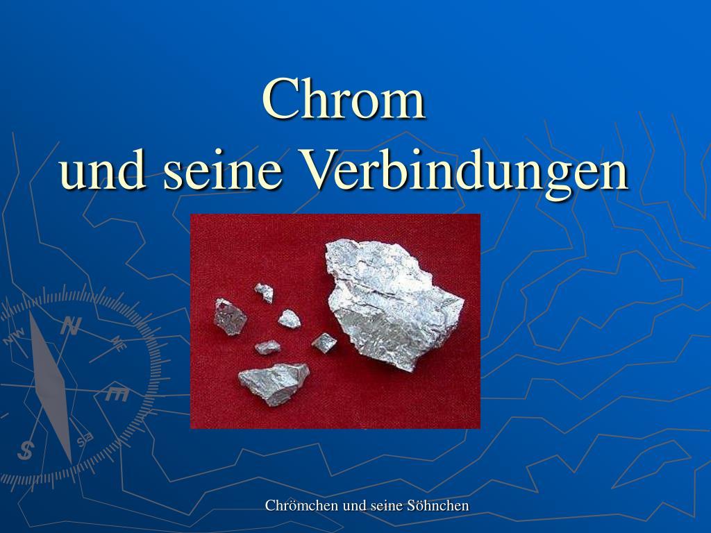 chrom und seine verbindungen l.