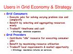 users in grid economy strategy
