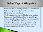 other ways of mitigation