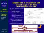 experience in translation and interchange of gi data the technological gaps gfm