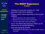 the mgcp experience context