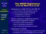 the mgcp experience from the mgcp fc to an as