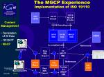 the mgcp experience implementation of iso 19110