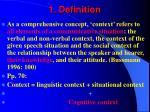1 definition
