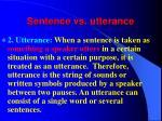 sentence vs utterance