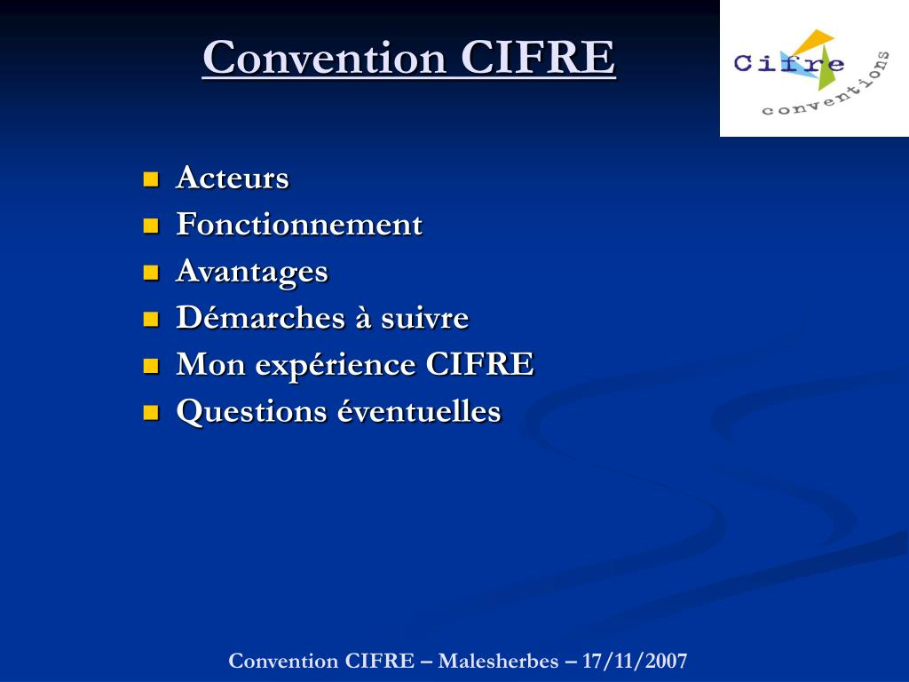 convention cifre l.
