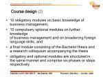 course design 2