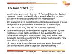 the role of wbl 520