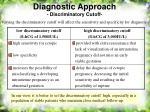 diagnostic approach discriminatory cutoff14