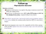 follow up reproductive outcome53
