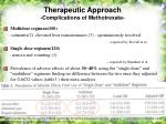 therapeutic approach complications of methotrexate42