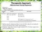 therapeutic approach methotrexate dosing regimens28