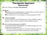 therapeutic approach methotrexate