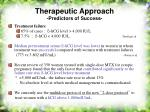 therapeutic approach predictors of success36