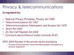 privacy telecommunications