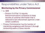 responsibilities under telco act19