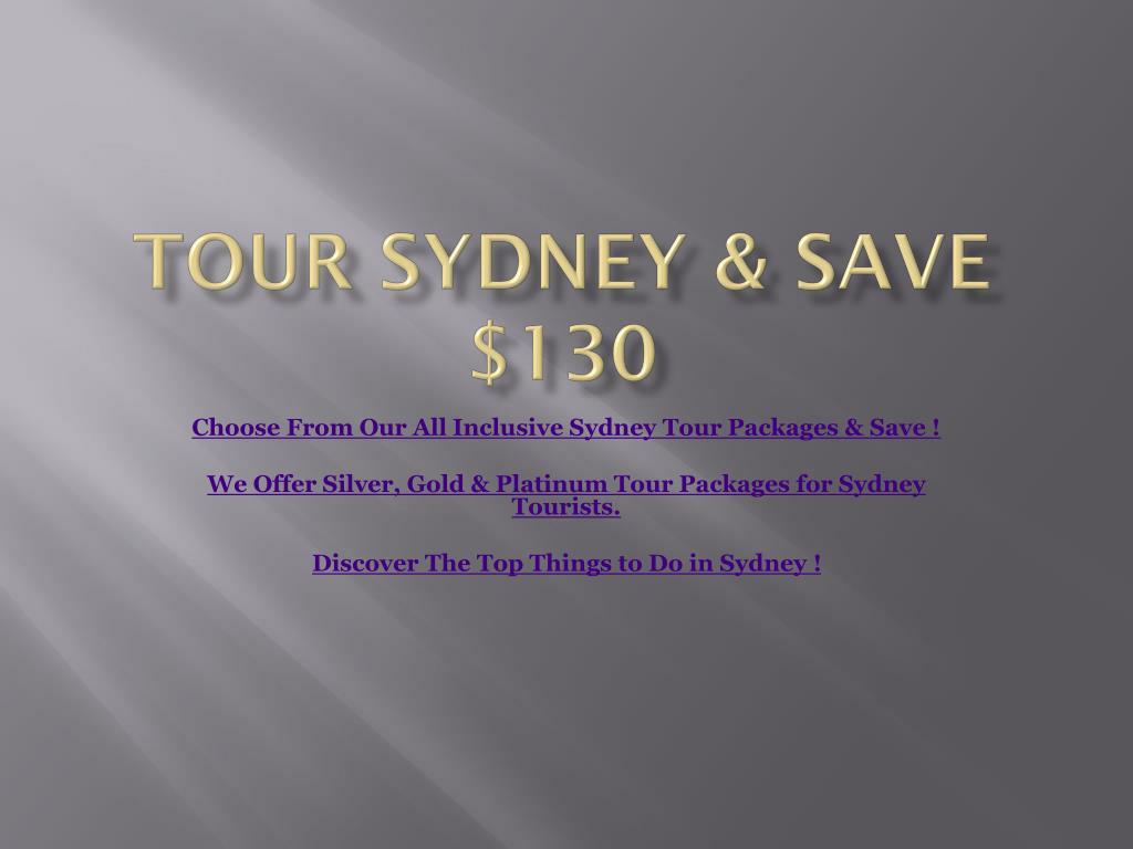 tour sydney save 130 l.