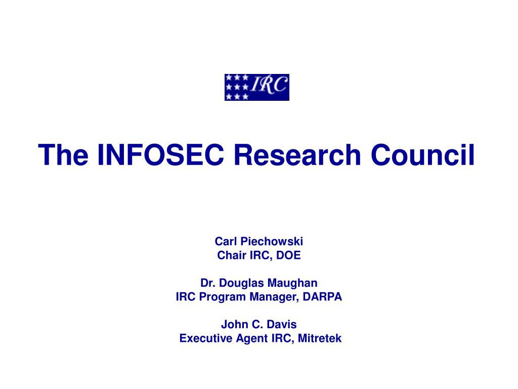 the infosec research council l.