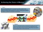 achieving the vision mission
