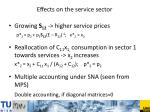 effects on the service sector