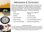 admissions curriculum