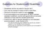guidelines for students with disabilities