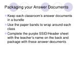 packaging your answer documents