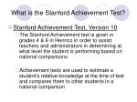 what is the stanford achievement test