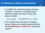 2 3 decimal to binary conversions13