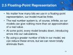 2 5 floating point representation60