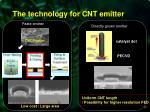 the technology for cnt emitter