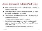 axess timecard adjust paid time27