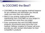 is cocomo the best