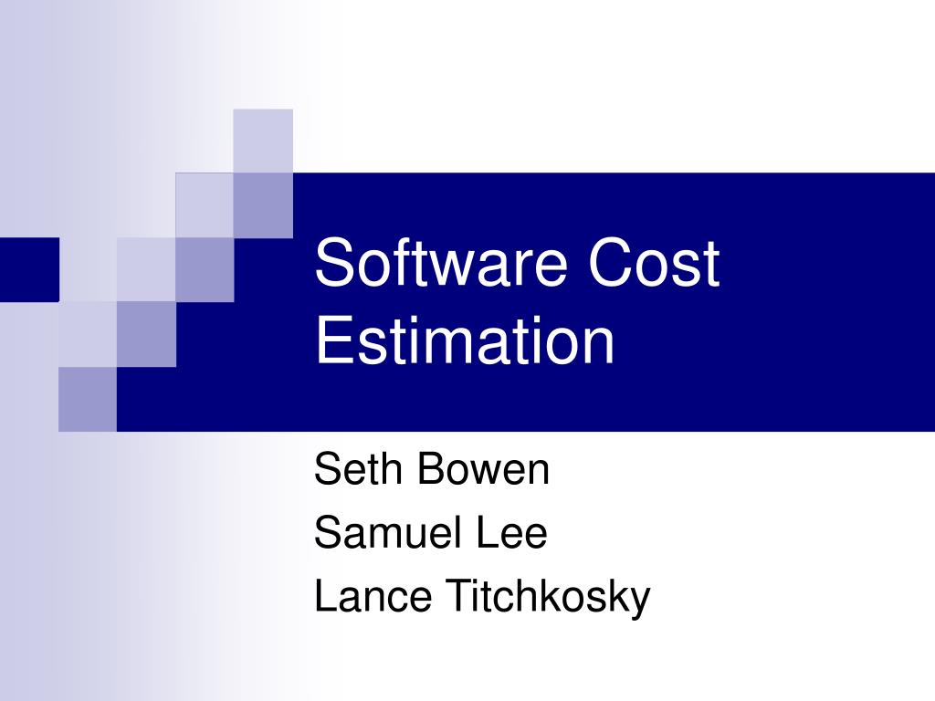 software cost estimation l.