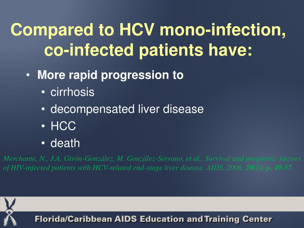 Compared to HCV mono-infection, co-infected patients have: