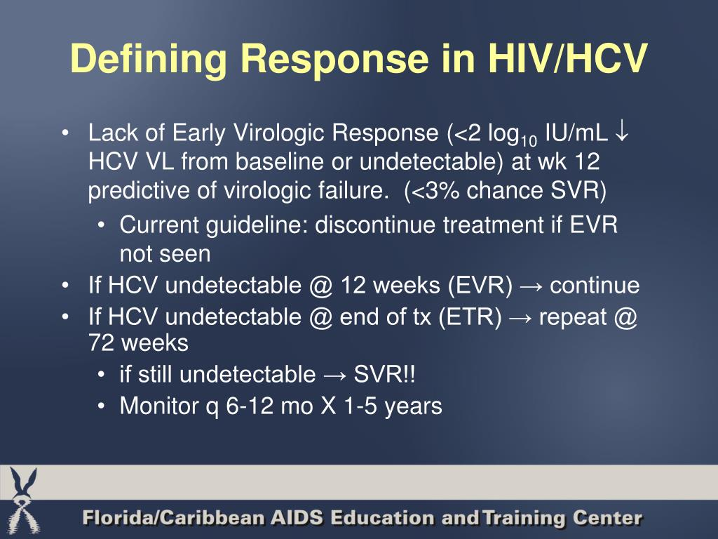 Defining Response in HIV/HCV