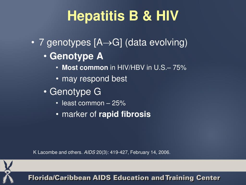 Hepatitis B & HIV