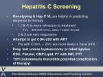 hepatitis c screening