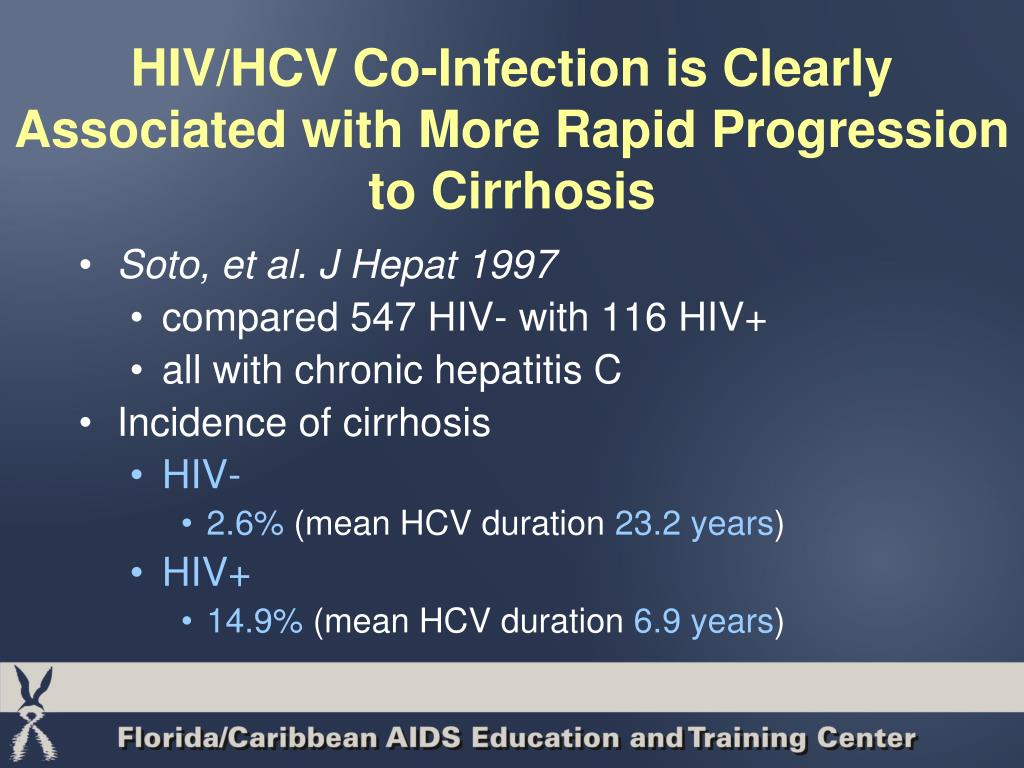 HIV/HCV Co-Infection is Clearly Associated with More Rapid Progression to Cirrhosis