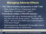 managing adverse effects41