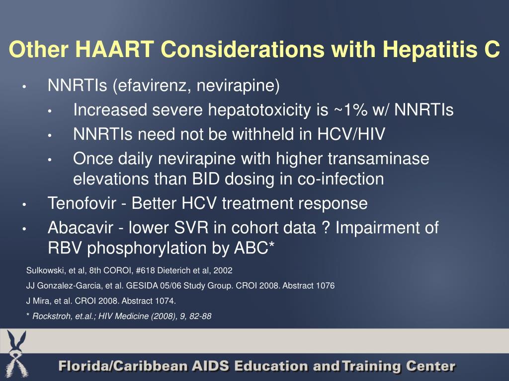 Other HAART Considerations with Hepatitis C