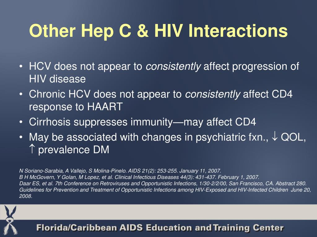 Other Hep C & HIV Interactions